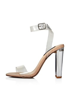 AQUA - Women's Luna Clear High-Heel Sandals