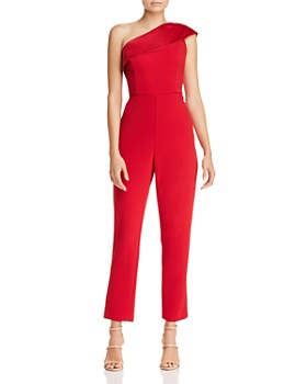 Adrianna Papell - One-Shoulder Crepe Jumpsuit