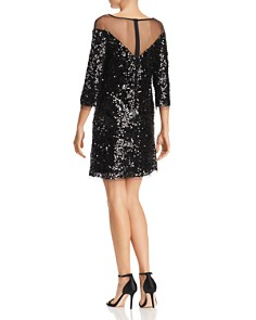 Laundry by Shelli Segal - Sequined Illusion Dress