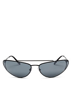 Prada - Women's Brow Bar Mirrored Cat Eye Sunglasses, 66mm