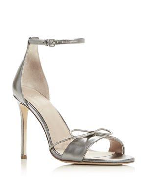 POUR LA VICTOIRE Women'S Elanna Ankle Strap High-Heel Sandals in Nickel