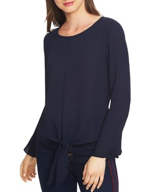 1.state Bell Sleeve Tie-Front Top