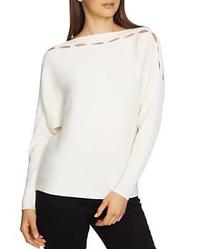 STATE - Ribbed Cutout Sweater ... 1190fa124f34