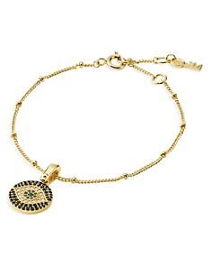 Michael Kors - Custom Kors Evil Eye Bracelet in 14K Gold-Plated Sterling Silver