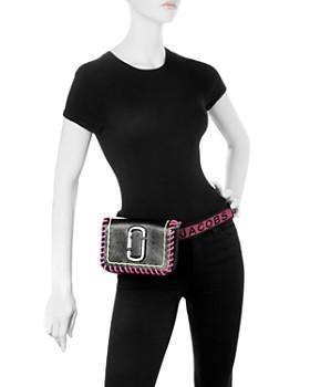 d3eafac985 ... MARC JACOBS - Hip Shot Whipstitch Leather Convertible Belt Bag