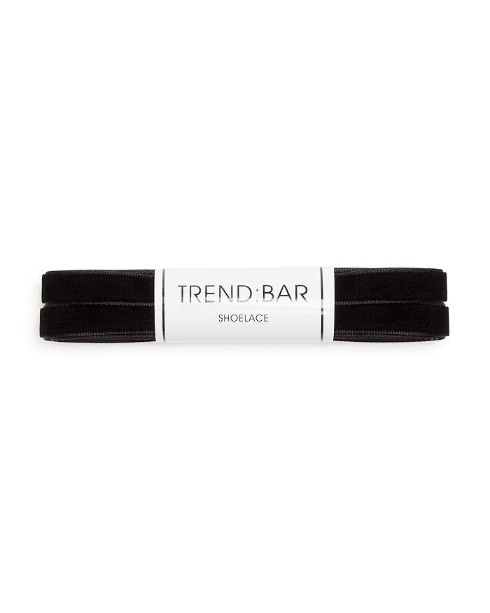 Trend Bar Velvet Shoelaces In Black