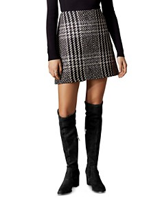 KAREN MILLEN - Check A-Line Mini Skirt