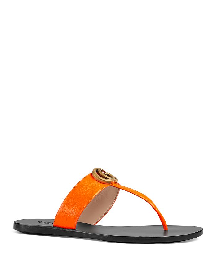 b54b434cdcfa Gucci Women's Marmont Leather Thong Sandals | Bloomingdale's