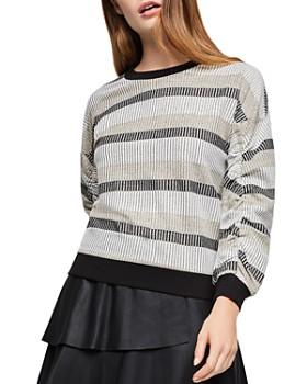 BCBGeneration - Metallic-Stripe Sweater