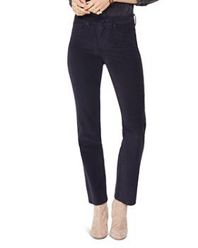 NYDJ - Marilyn Straight Corduroy Jeans in Black