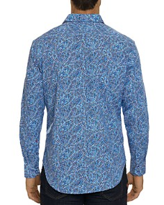 Robert Graham - Hutchinson Embroidered Houndstooth-Print Classic Fit Shirt