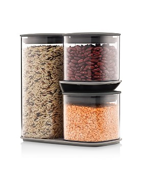 Joseph Joseph - Podium 3-Piece Storage Jar Set & Stand