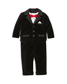 Little Me - Boys' Velvet Tuxedo Jacket, Long-Sleeve Bodysuit & Velvet Pants Set - Baby
