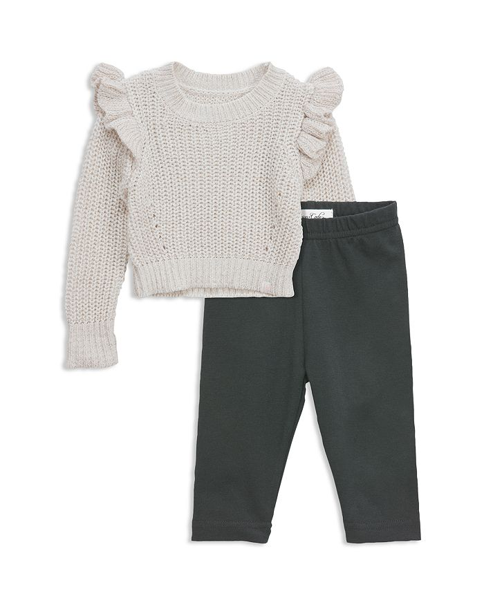 323554051 Sovereign Code Girls  Ruffled Knit Sweater   Leggings Set - Baby ...