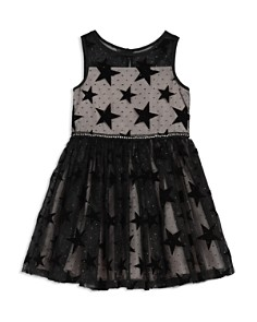 Pippa & Julie - Girls' Mesh Velvet-Star Dress & Bloomers Set - Baby