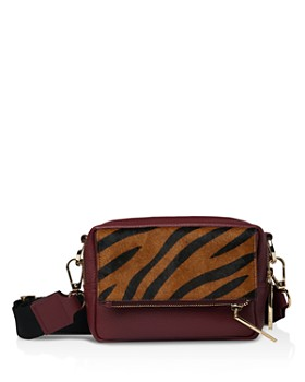 Whistles - Coco Tiger Print Leather Crossbody