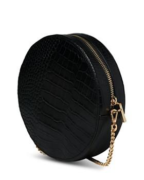 Whistles - Brixton Round Croc-Embossed Leather Crossbody
