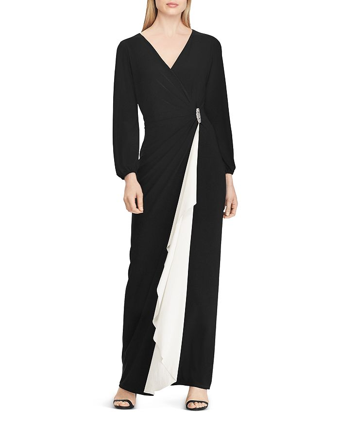 Ralph Lauren - Color-Blocked Jersey Gown