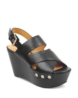 MARC FISHER LTD. Women'S Bianka Wedge Sandals in Black