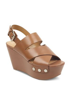 MARC FISHER LTD. Women'S Bianka Wedge Sandals in Dark Natural
