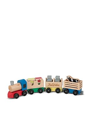 Melissa & Doug Wooden Farm Train Toy Set - Ages 3+