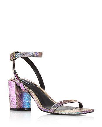 JAGGAR - Women's Essential Snake-Print Block Heel Sandals