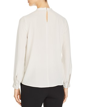 Eileen Fisher - Silk Keyhole Top