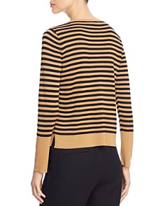 Eileen Fisher Petites - Striped Crop Sweater