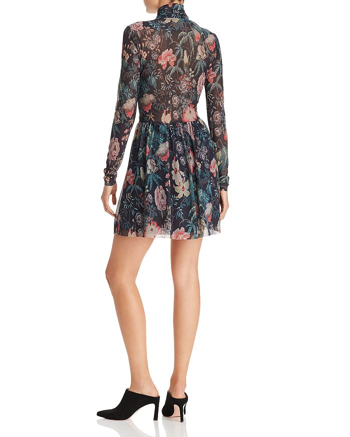 0f2fc9502ee15 Rebecca Taylor - Faded Garden Print Dress