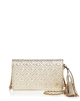 Tory Burch - Fleming Flat Leather Wallet Bag