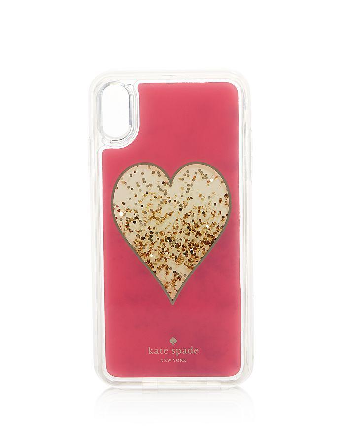 kate spade new york - Heart Glitter iPhone X Plus, XS & X2 Case