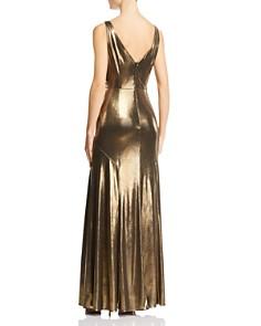 Aidan by Aidan Mattox - Metallic Knit Gown
