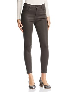 J Brand - Alana Coated Crop Skinny Jeans in Ivy Vine