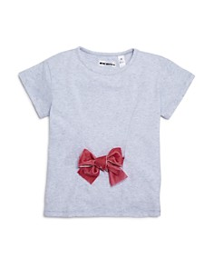 Mini Series - Girls' Velvet-Bow Tee, Little Kid - 100% Exclusive