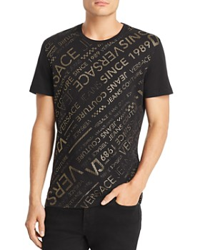 Versace Jeans - Diagonal Metallic Logo-Print Tee 4b41a0fb870