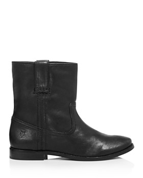 Frye - Women's Anna Short Round Toe Leather Boots