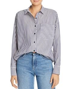 ATM Anthony Thomas Melillo - Striped Boyfriend Shirt