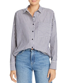 5ac382aa165 ATM Anthony Thomas Melillo - Striped Boyfriend Shirt ...