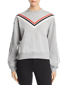 Rebecca Minkoff - Riley Chevron-Stripe Sweatshirt