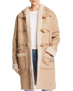SAGE THE LABEL Sage The Label Now Or Never Hooded Toggle Coat in Natural
