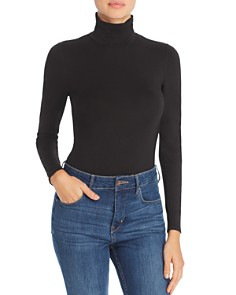 Little Black Bodysuit - Phoebe Mock-Neck Bodysuit
