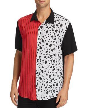 NANA JUDY Nana Judy X Disney Spark Short-Sleeve Color-Block Regular Fit Shirt in Black/Red/White