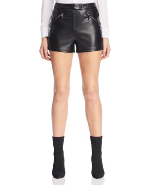 Maxie Faux Leather Shorts in Jet Black Multi