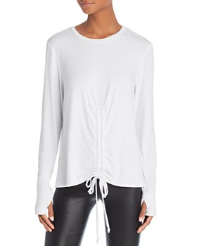 Terez - Ruched Drawstring Top