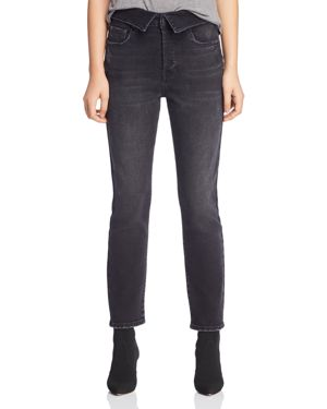 PISTOLA Nico Foldover Mom Jeans In Shadows