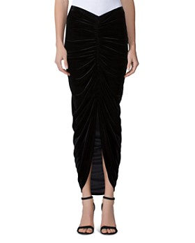 Bailey 44 - Any Seven Ruched Velvet Maxi Skirt