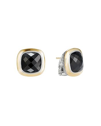 David Yurman - Albion Stud Earrings with 18K Gold & Black Onyx