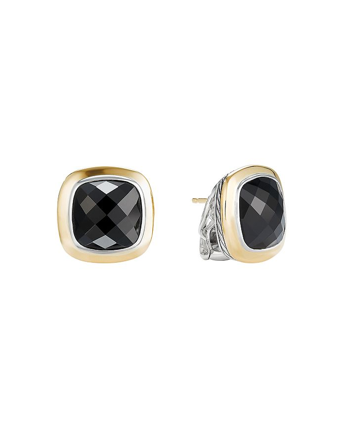 David Yurman ALBION STUD EARRINGS WITH 18K GOLD & BLACK ONYX