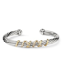 David Yurman - Helena Center Station Bracelet with 18K Gold & Diamonds