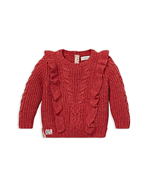 Ralph Lauren Girls Ruffled AranKnit Sweater  Baby